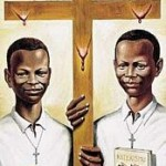Two martyrs, Daudi Okello and Jildo Irwa