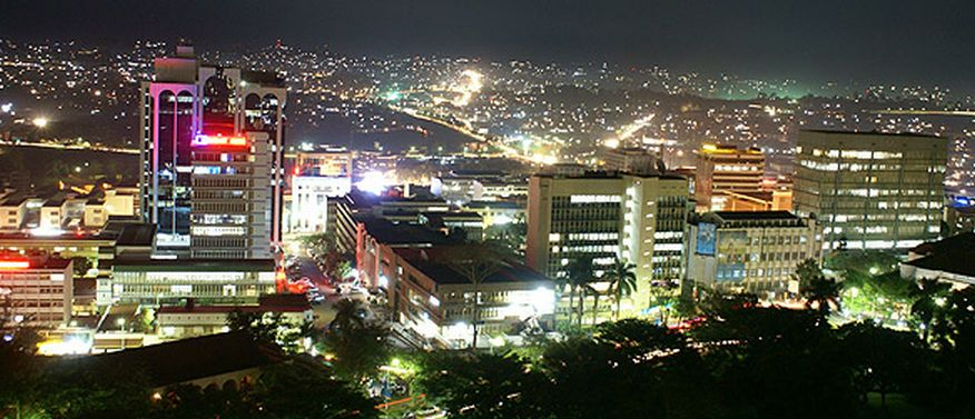 kampala city at night